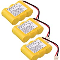 Generic 3 Pack 400mAh Cordless Phone Battery for Vtech BT-17333 CS2111, CS2111, CS5121 Compatible for Southwestern Bell FF641 FF642 FF643 FF643B FF646 FF655 FF660 FF664 FF665 FF667 FF668 FF670 FF671 FF672 FF674 FF676 FF677 FF680 FF688 FF690 FF692 FF693 FF694 FF695 FF701 FF702 FF705 FF712 FF714 FF718 FF720 FF725 FF727 FF728 FF729