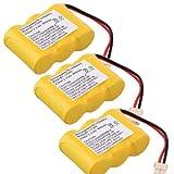Generic 3 Pack 400mAh Cordless Phone Battery for Vtech BT-17333 CS2111, CS2111, CS5121 Compatible for Southwestern Bell FF641 FF642 FF643 FF643B FF646 FF655 FF660 FF664 FF665 FF667 FF668 FF670 FF671 FF672 FF674 FF676 FF677 FF680 FF688 FF690 FF692 FF693 FF