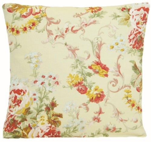 Ralph Lauren Home Decor Pillow Throw Case Floral Cushion Cover Linen Printed Vintage Look Pattern Beige Bairrclif 16