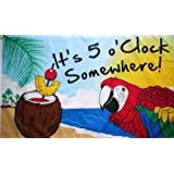 3X5 Ft It'S 5 O'Clock Somewhere Jimmy Buffett Parrot Flag by Unknown