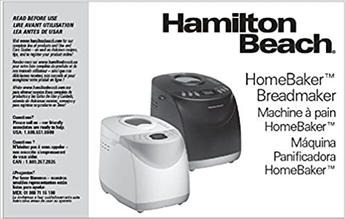 Hamilton Beach Flatbread Mealmaker Express Manual 80200 ...