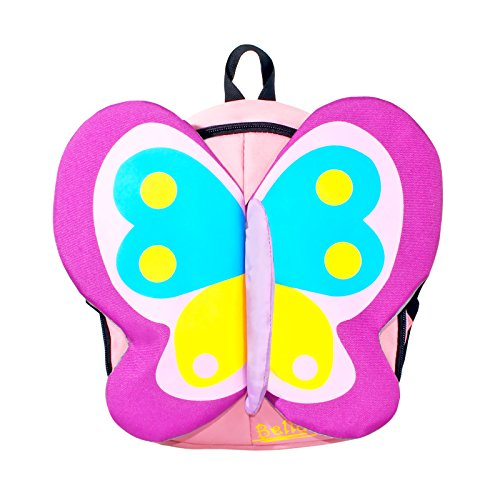 Zahara Toddler Kids Backpack 3D Zoo Animal Cartoon Preschool Bag Butterfly ()