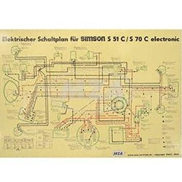 Wiring Diagram Colour Poster (40x57 cm) S51 °C, S70 °C - 6 V ...