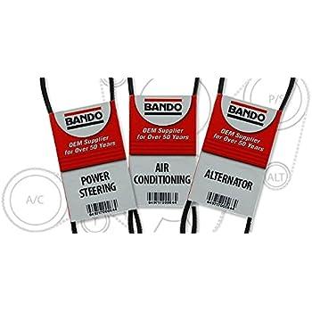 BANDO Replacement for Honda Civic 1 6 dx lx gx hx ex 1996 1997 1998 1999  2000 Three piece set 4PK800 BANDO 4PK820 BANDO 4PK845 OEM Quality  Serpentine