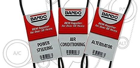 BANDO tacoma April 1997 on through 2002 2 7L FOUR CYLINDER Alternator-Air  Conditioner-Power Steering Belt Set(3 belts)BANDO 4PK870 5PK865 4PK1110