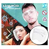 New Glasses Full Face Cover, All-Round Clear Wide