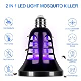 Tankard Bug Zapper Light Bulb, 2 in 1 8W LED Mosquito Killer Lamp, Insect & Fly Killer, Built in Insect Trap, Fits in 110V Light Bulb Socket, Suit Indoor Kitchen Outdoor Porch Patio Backyard (E26)