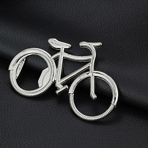 Gudelaa Cute Bike Bicycle Metal Beer Bottle Opener Keychain Key Rings for Bike Lover Biker Bicycle Bottle Opener