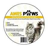 Awes Paws 3 inch x 30 Yard Extra Sticky Anti-Scratch Training Tape, Furniture Scratch Prevention Tape, Multi-Purpose for use on School and Work Projects