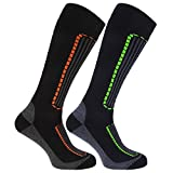 FLOSO Mens Ski Socks (Pack Of 2)