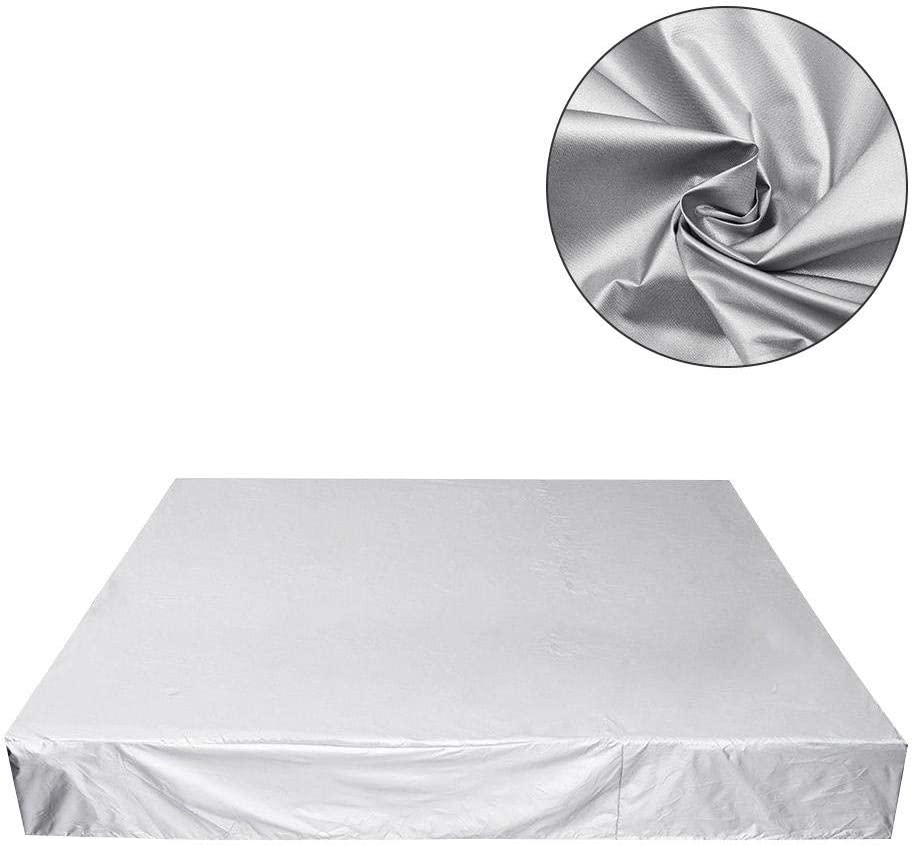 Hot Tub Cover UV-Resistant Waterproof Square Garden Furniture Covers 3 Sizes Outdoor SPA Bath Pool Cover