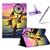 Wallet Folio Case for iPad Mini 1/2/3/4,Bookstyle Flip Pu Leather Case for iPad Mini 1/2/3/4,Herzzer Stylish Pretty Sunset Dreamcatcher Printed Stand Magnetic Smart Leather Case with Soft TPU Inner