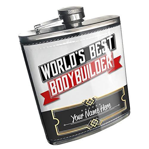 Neonblond Flask Worlds Best Bodybuilder Custom Name Stainless Steel