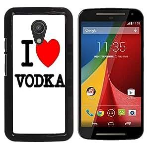 - Vodka - - Monedero pared Design Premium cuero del tir¨®n magn¨¦tico delgado del caso de la cubierta pata de ca FOR Motorola Moto G 2 nd Gen Funny House