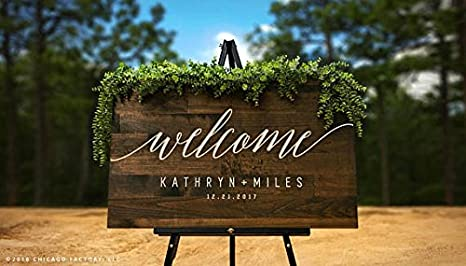 Custom Welcome to Our Wedding Sign, Large Rustic Wood Sign, Wood ...