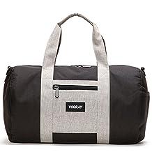 """Vooray Roadie 16"""" Small Gym Duffel Bag, Black/Heather Gray"""