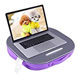 Lap Desk Multi-Function Knee Pad for Laptop MacBook iPad Tablet Comfortable Cushion- Round (Purple, 16x4x14inch)