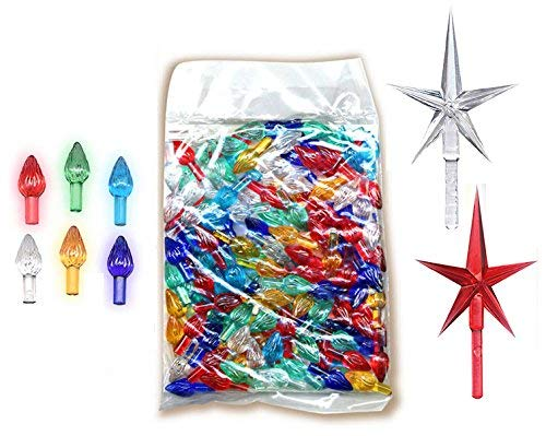 National Artcraft Ceramic Christmas Tree Ornaments Plus Stars (146 Pcs) (Part Tree Replacement Christmas Ceramic Star)