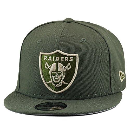 (New Era 9fifty Oakland Raiders Snapback Hat Cap Olive Green/Off White)