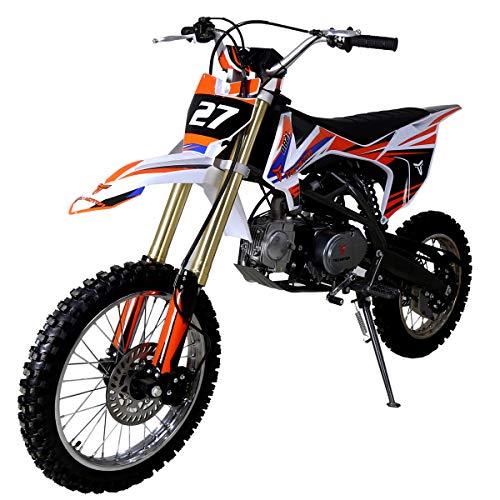 X-PRO 125cc Dirt Bike Pit Bike Kids Dirt Pitbike 125 Dirt Pit Bike (White)