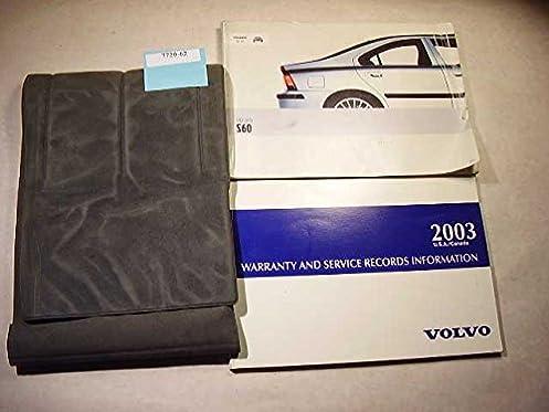 2003 volvo s60 owners manual volvo amazon com books rh amazon com 2003 Volvo S60 Repair Manual 2003 volvo s60 owners manual pdf