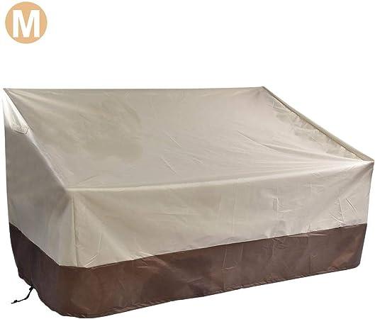 Funda para banco de jardín de Loveseat, impermeable, resistente al viento, anti-UV, 210D tela Oxford para exteriores, muebles de patio, sofá o banco M9(193*83*84cm) plata: Amazon.es: Hogar