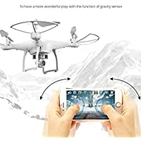Hanbaili S10 Remote Control Quadcopter Drone with Camera Real-time Transmission, 360 Flips One-touch off Drone with Headless Mode Easy Fly for Beginners