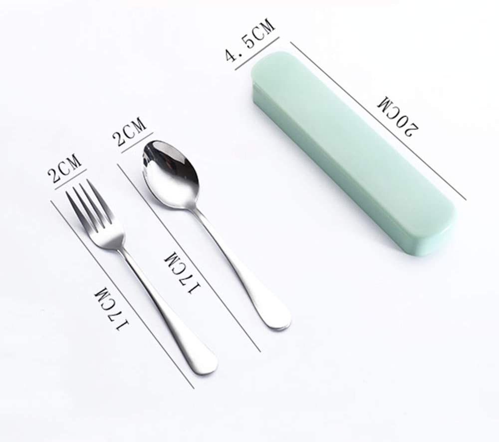 Chezaa 2 Pcs Flatware Sets Tableware Solid Stainless Steel Silverware Set Fork Spoon Utensils Mirror Polished Cutlery Modern Permium for Kids /& Adults Travel Outdoor