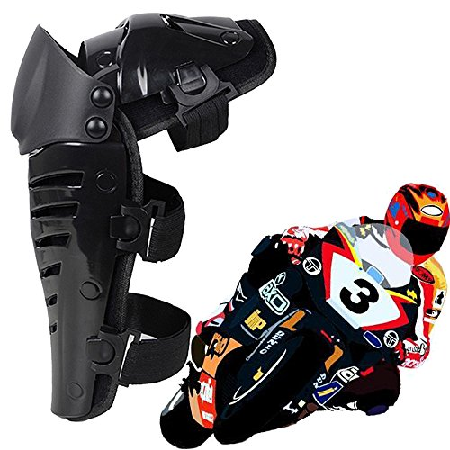 Max&Mix 1 Pair Racing Enforcer Adult Knee Pads/Adult Shin Guards Gear Flexible Breathable Adjustable Knee and Shin Pads Knee Guard Motorcycle Gear Protective Gear Body Armor - Black/One Size