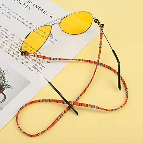falllea 10 Piezas de Correa Gafas Cuerda Gafas de Sol Retenedor Cadenas Gafas Anteojos Enganche Cuerda de Seguridad de Gafas de Cordón Antideslizante Cadena de Anteojos Ajustable para Hombres Mujeres: Amazon.es: Ropa