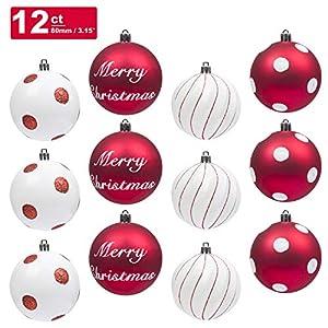 KI Store Christmas Tree Decorations Decorative Ball Ornaments Hanging Decor 10