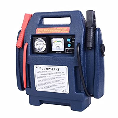 Kize 4-IN-1 400 900 Amp 12 Volt Jump Starter 260PSI Air Compressor Car Lead