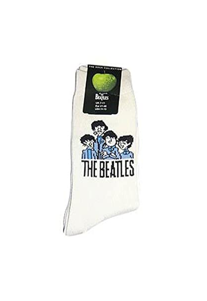 The Beatles Cartoon Group Cream Mens Boys Pair Of Socks 7-11 Apple Gift Official: Amazon.es: Ropa y accesorios
