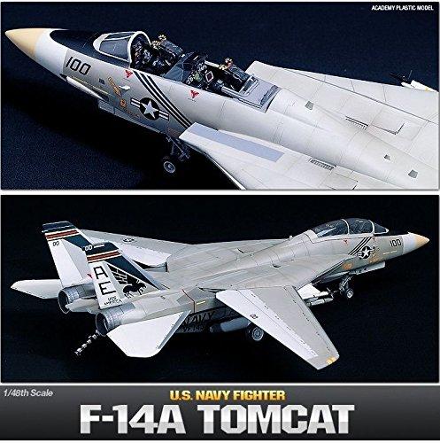 Tomcat Fighter F-14a - Academy 1/48 Scale Plastic Model Kit F-14A Tomcat US Navy Fighter NIB 12253 /ITEM#G839GJ UY-W8EHF3144586