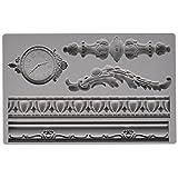 Prima Marketing 655350814823 Baroque No.6 Iron Orchid Designs Vintage Art Decor Mold, Grey