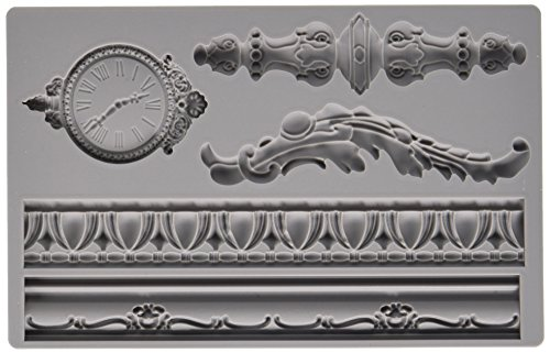 Prima Marketing 814823 Baroque No.6 Iron Orchid Designs Vintage Art Decor Mold, Grey