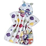 Arcly Kids Beach Towels, Kids Hooded Beach & Bath Wrap Towel,Ultra Breathable and Soft for All Seasons,Animal/Cloud