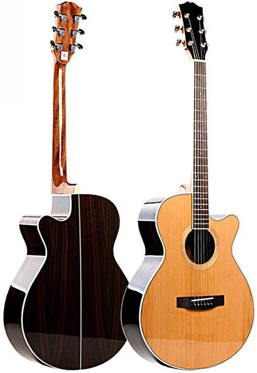 Hjyi Guitarra acústica, Guitarra acústica de una Sola Placa Chapa ...