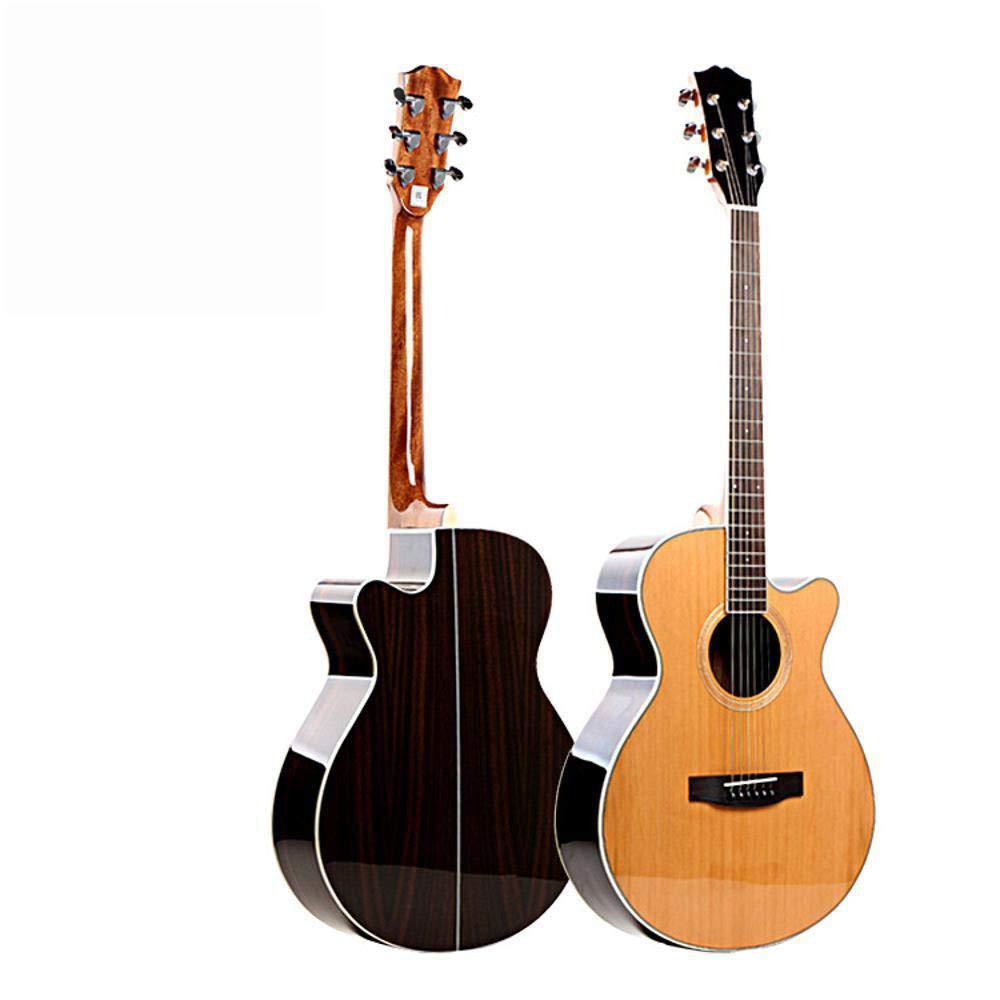 Hjyi Guitarra acústica, Guitarra acústica de una Sola Placa Chapa de ...
