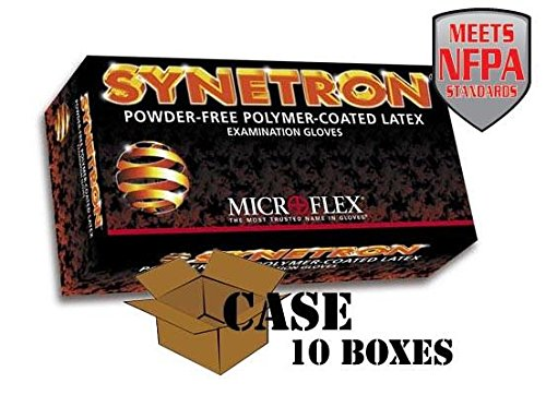 Microflex - Synetron Polymer-Coated Latex Examination Gloves - Case - size: Medium by Disposable Glove (Image #1)