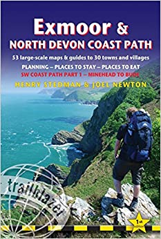 Exmoor & North Devon Coast Path, South West Coast Path Part 1 - Planning, Places to Stay, Places to Eat (British Walking Guides) (Trailblazer British Walking Guides)