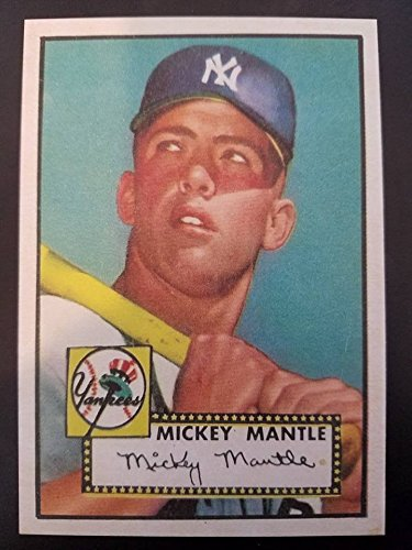 1952 MICKEY MANTLE BASEBALL ROOKIE REPRINT TOPPS #311 Aged Look Original Back!!