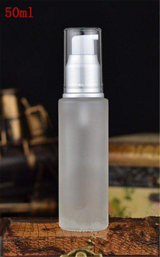 Interesting® 1PC opaco bianco Dispenser sapone pompa bottiglia crema di vetro Contenitori per la cura estetica di crema per la pelle