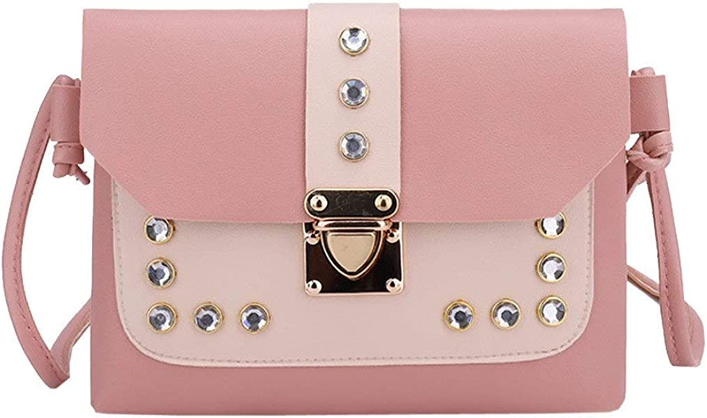 Amazon.com: Aelicy Girl Shoulder Bag Hit Color Rhinestone Women Messenger Bag Satchel Tote Crossbody Bags @ dropship new bolsa feminina Color Pink: Shoes