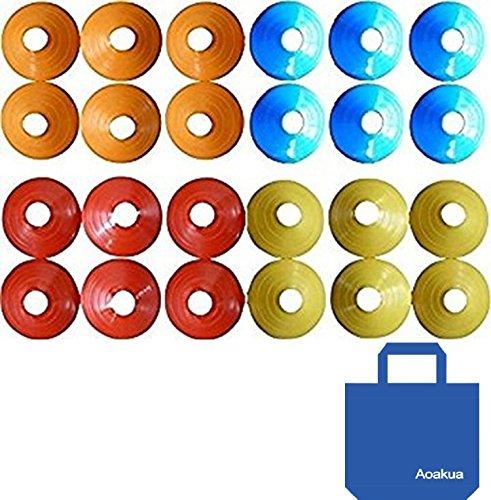 Aoakua 디스크 마커 콘 24 매수납 가방 세트 ((전4색-각6매))