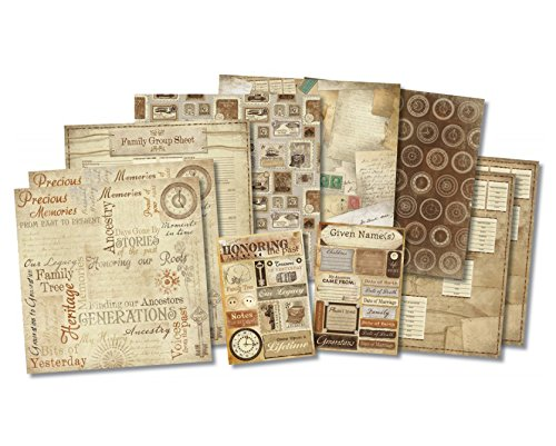 Karen Foster 20519 Honoring The Past Scrapbook Page Kit (Paper Page Kit)