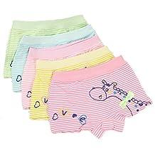 Girls' Boyshort Toddler Briefs Cotton Underwear 5pk Panties