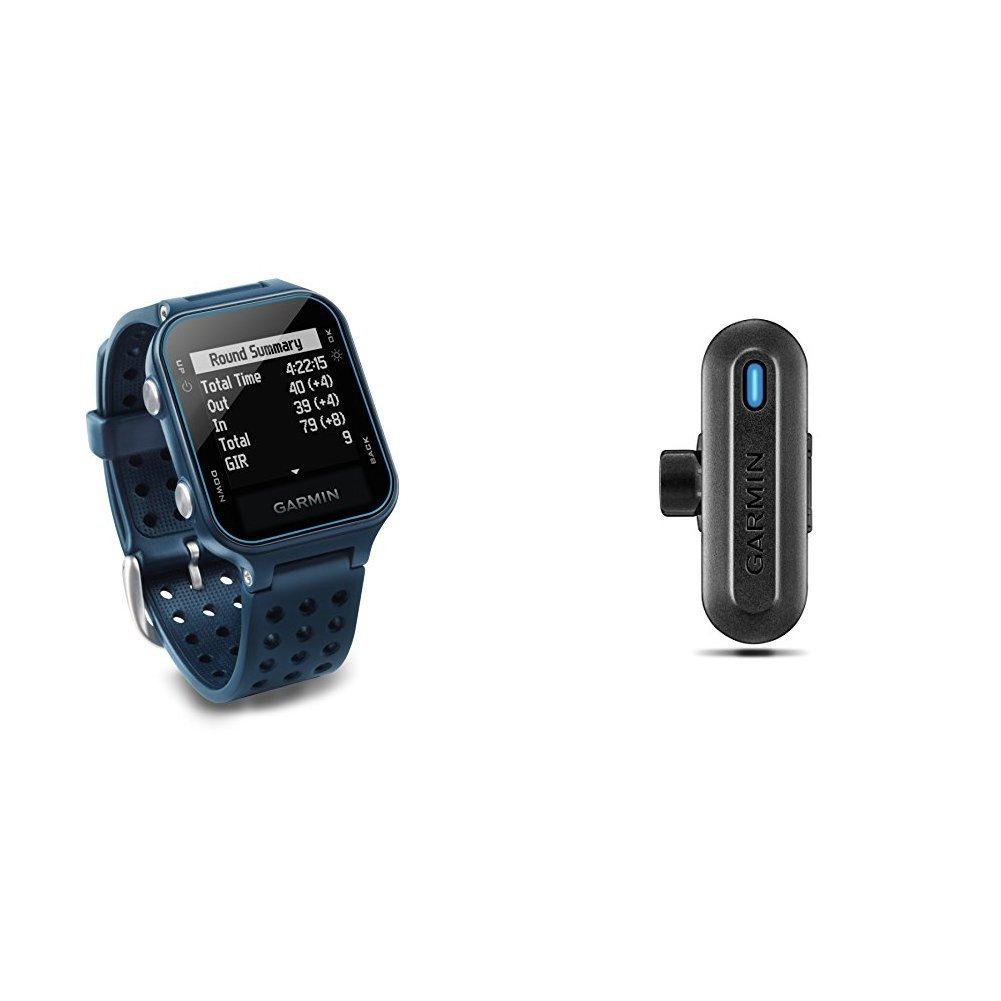 Garmin Approach S20 Golf Watch - Midnight Teal and TruSwing Golf Club Sensor Bundle