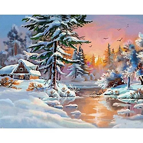 Christmas 5D Diamond Painting Hot Sale!!!Kacowpper Full Drill Embroidery DIY Beatuful Snow Scene Pumpkin Maple Leaf Thanksgiving Kit Home Decor -