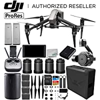 DJI Inspire 2 Quadcopter (Apple ProRes License Included) with Zenmuse X7 + DJI CrystalSky 5.5 High-Brightness Monitor + DL & DL-S Lens Set Ultimate Handheld Bundle